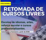 RETOMADA DE CURSOS LIVRES